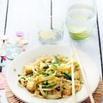 Rijstnoedels met gebakken curry-groenten